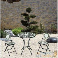 Table de jardin en mosaique avec chaises - Bientôt les Soldes Table ...