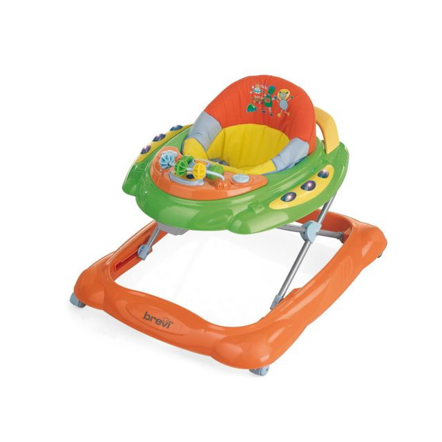 BREVI - Trotteur bébé SKYLAB - Orange et vert
