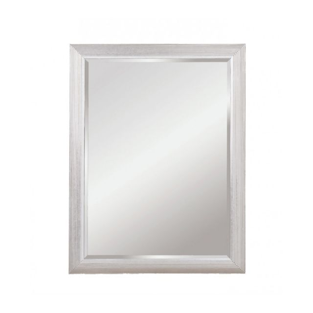 Deknudt Mirrors Miroir Athens Rectangle Silver Traditionnel Classique Rectangulaire Argenté 82x107 cm