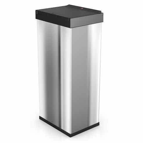 hailo poubelle de cuisine carr e manuelle 60l en inox big box touch inox pas cher achat. Black Bedroom Furniture Sets. Home Design Ideas