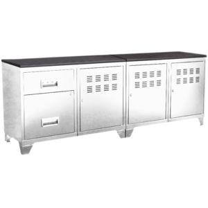 pierre henry meuble tv bois m tal industriel blanc pas cher achat vente meuble tv. Black Bedroom Furniture Sets. Home Design Ideas