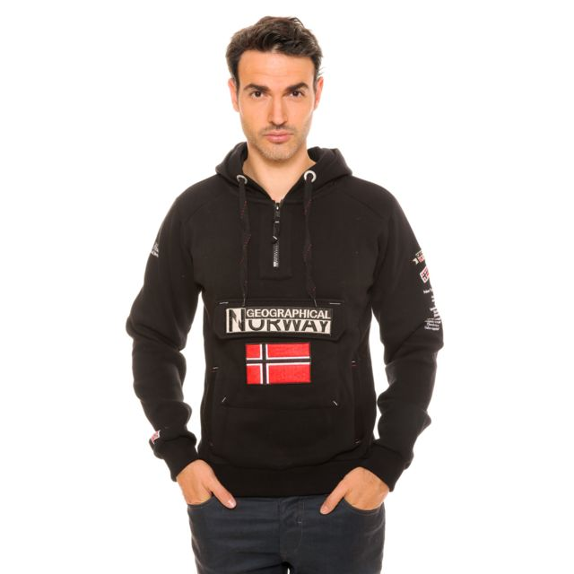 Geographical Norway Sweat Gymclass Noir pas cher Achat