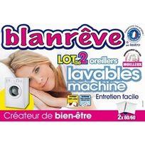 Blanreve - Lot De 2 Oreillers Lavables Machine 60X60 3245841175938