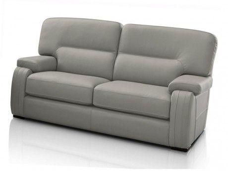 marque generique canap 2 places rodez 100 cuir de buffle gris clair 92cm x 90cm x 162cm. Black Bedroom Furniture Sets. Home Design Ideas