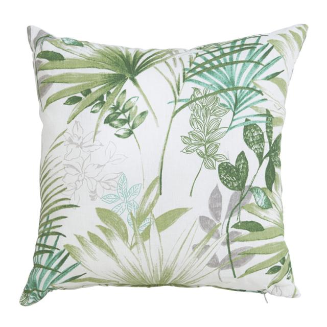 Hartman - Coussin décoratif grand confort pour l'extérieur, 50 x 50 cm épaisseur 16 cm, déhoussable, motif jungle tropicale