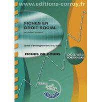 Corroy - fiches en droit social ; fiches de cours ; unité d'enseignement 3 du Dcg 6e édition