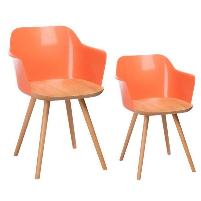 de rétro Orange chaises Duo Ramiz kXN80ZwPnO