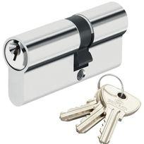 Bricard - Cylindre de sécurité pour porte barillet 30 x 50 mm Alpha 3 clés