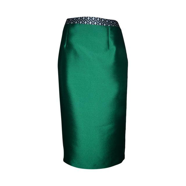 Allure Femme 1815S00 Vert Viscose Jupe