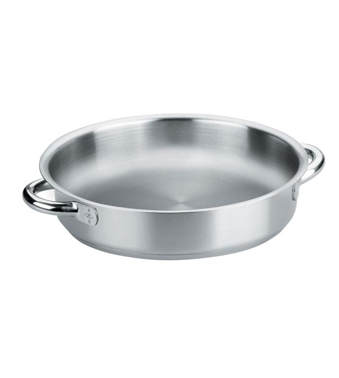 Poêle à paella induction avec fond en inox 18/10 - Ø 24 cm - Eco Chef