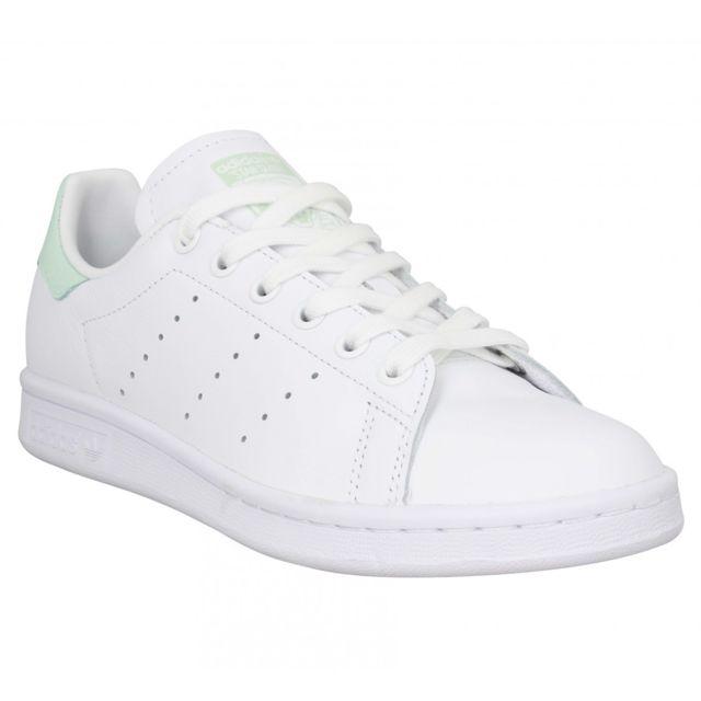 Adidas - Stan Smith cuir viperine Femme-40 2/3-Blanc Vert ...