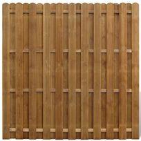Vimeu-Outillage - Panneau de clôture en bois avec planches intercalées