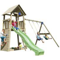 BLUE RABBIT - Aire de jeux en bois Belvedere Avec balançoires