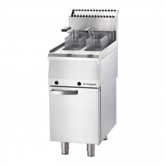 Materiel Chr Pro Friteuse à Gaz Double 2 x 7 L 12 kW - G20 ou G30 - Stalgast - 700