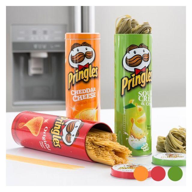 Totalcadeau Boîte Métallique Pringles Couleur - Orange