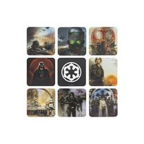 Paladone - Verres - Star Wars Rogue One pack 8 sous-verres