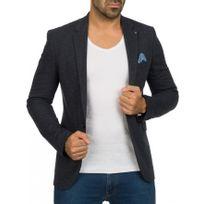 Beststyle - Veste costume homme marine habillée à la mode