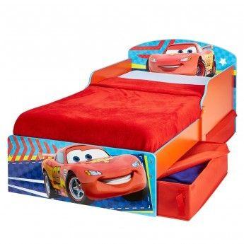 Cars - Lit d'Enfant Disney avec Rangements Rouge
