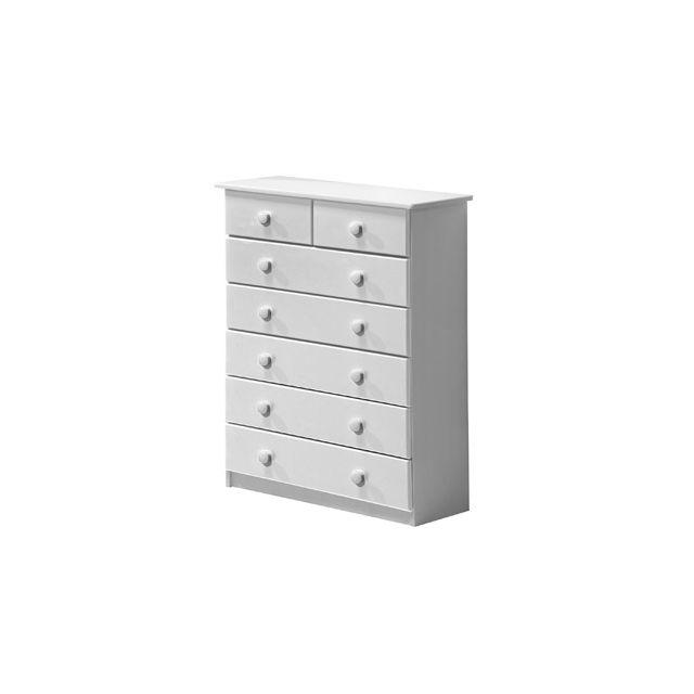 Commode Verona 7 tiroirs coloris blanc