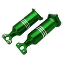 RakonHeli - Supports de patins d'atterrissage alu vert Pod 250 - Rakon Heli