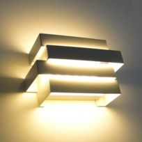 Kosilum - Applique Led moderne design Scala 6W - blanc - En Soldes