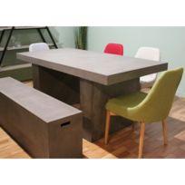 Table de repas en béton salon et jardin - Grey