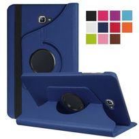 Xeptio - Housse Samsung Galaxy Tab A 10.1 2016 / Tab A6 T580/T585/T580N, 10,1 pouces Cuir Style bleu rotative - Etui coque de protection