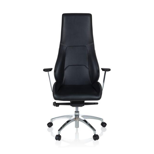 Hjh Office Chaise de bureau / fauteuil de direction Enza simili cuir noir