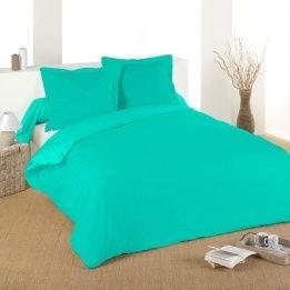 Marque generique housse de couette 240 cm confort turquoise bleu pas cher achat vente - Housse de couette bleu turquoise ...