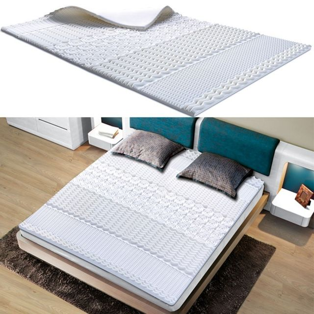33 sur idmarket surmatelas mousse m moire de forme 10 zones 90x190 cm vendu par rueducommerce. Black Bedroom Furniture Sets. Home Design Ideas