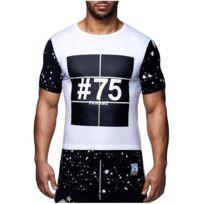 David Gerenzo - Tee shirt Paname 75 T-shirt G-d 126 Blanc