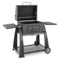 KLARSTEIN - Bigfoot Barbecue à charbon de bois fumoir BBQ 55 x 40 cm acier - noir