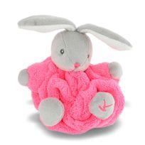 Kaloo - Plume : Mini doudou neon : lapin rose fluo