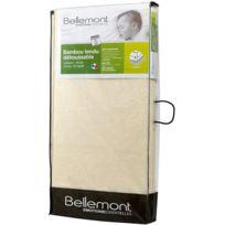 BELLEMONT - Matelas bébé bambou tendu déhoussable 60 x 120 cm
