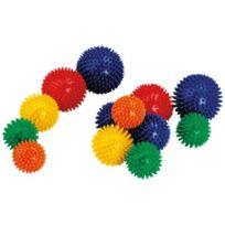 Vinco Educational - balles herisson diametre 5 - 7 - 8cm - lot de 6