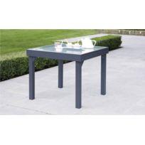 table de jardin aluminium et verre avec rallonge - Achat table de ...