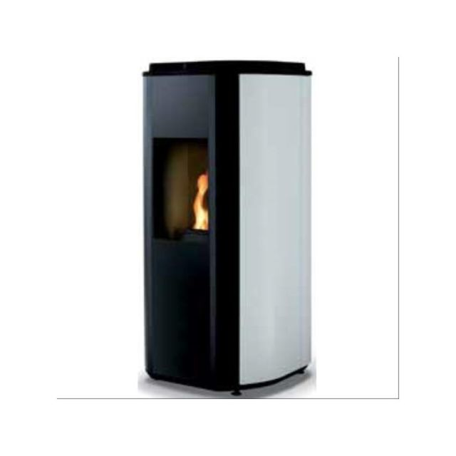 Supra Poele A Granules - 5,5 kw - Base Noir - Habillage blanc - Rt2012 - Dta