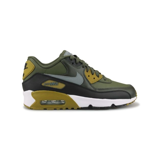 74b395412771c Nike - Air Max 90 Ltr Junior Kaki 833412-300 38 - pas cher Achat   Vente  Baskets enfant - RueDuCommerce