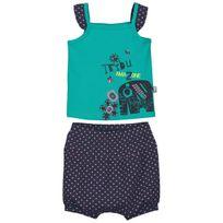 Petit Beguin - Ensemble t-shirt et sarouel bébé fille Matribu - Taille - 12 mois 80 cm