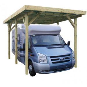 Jardipolys carport en bois camping car pas cher achat for Garage pour camping car en bois
