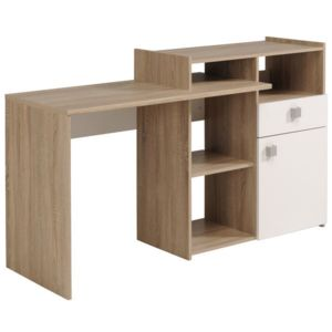 last meubles bureau 3 positions fusion blanc 186cm x 92cm x 50cm pas cher achat vente. Black Bedroom Furniture Sets. Home Design Ideas