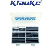 "Klauke - Coffret de gaines thermorétractables ""noir"