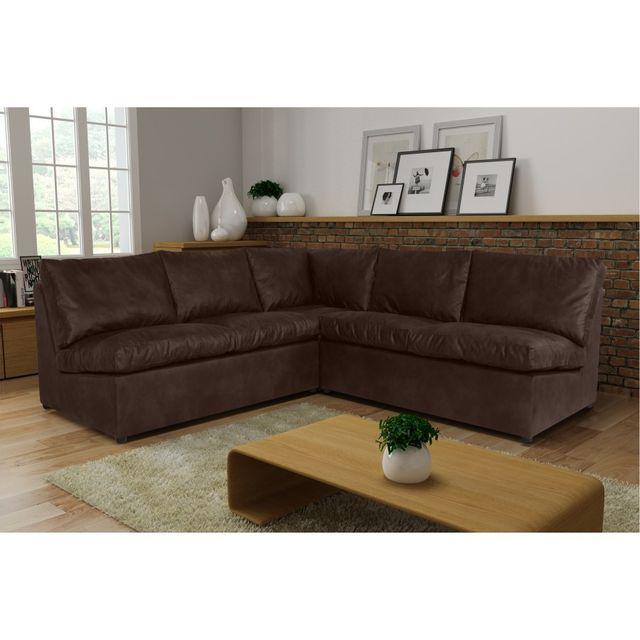 Rocambolesk Canapé d'angle Avanti Flexi 2A2 tobago 14 brun sofa divan