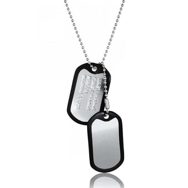 3352ccb36ee Bijoux En Vogue - Plaque Militaire Acier Militaire - pas cher Achat ...