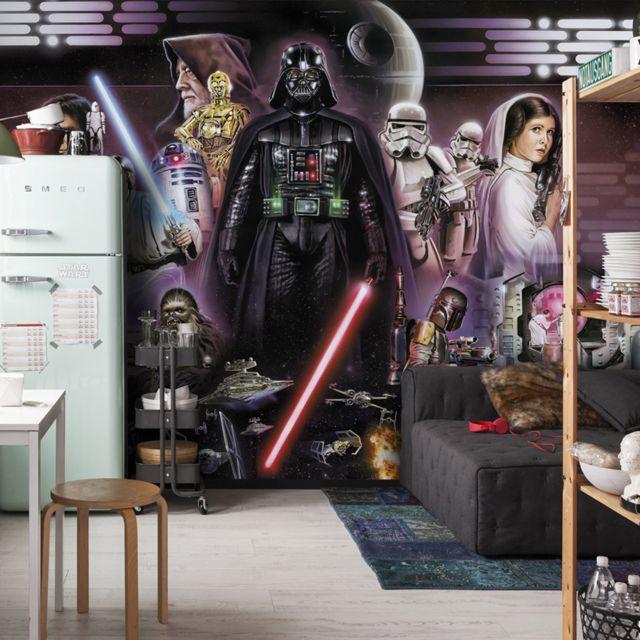 254x183cm Papier peint papier peint Garçons Chambre Disney DECOR Star Wars Rey