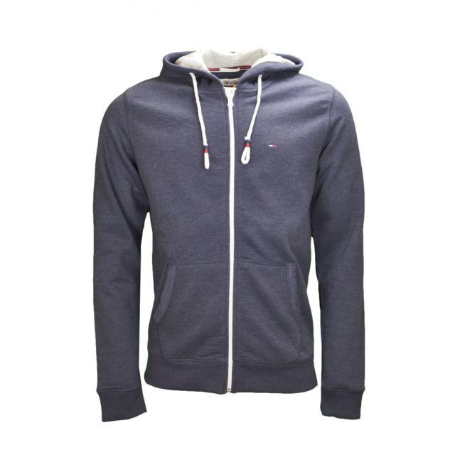 Sweat à capuche zippé à logo Tommy Hilfiger : vente veste