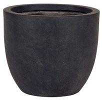 Cemonjardin - Pot de fleurs Dublin - diamètre 45 cm - Gris foncé
