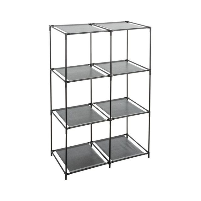 jja le depot bailleul tag re 6 cases noir pas cher achat vente etag res rueducommerce. Black Bedroom Furniture Sets. Home Design Ideas