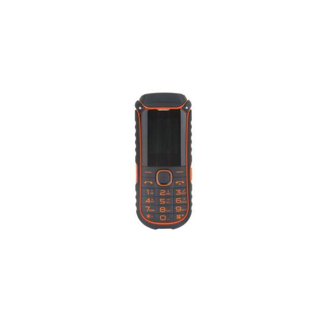 Auto-hightech Téléphone 1,77 pouces Double Sim avec Bluetooth, radio Fm - Orange