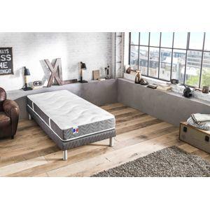lovea ensemble matelas sommier magnifique 100 latex 5 zones sp cial dos sensible blanc. Black Bedroom Furniture Sets. Home Design Ideas